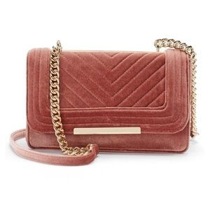 NEW Apt. 9 Quilted Velvet Shoulder Bag